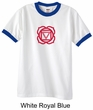 Mens Yoga T-shirt - Muladhara Root Chakra Adult Ringer Shirt