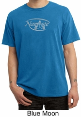 Mens Yoga T-shirt – Namaste Meditation Pigment Dyed Tee Shirt