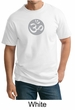 Mens Yoga T-shirt – Om Symbol Meditation Adult Tall Tee Shirt