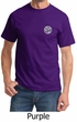 Mens Yoga T-shirt Om Symbol Pocket Print Tee Shirt