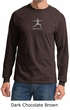 Mens Yoga T-shirt – Warrior 2 Pose Meditation Long Sleeve Shirt