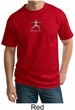 Mens Yoga T-shirt – Warrior 2 Pose Meditation Tall Tee Shirt