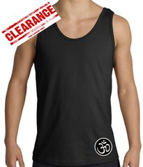 Mens Yoga Tank – Aum Patch Sanskrit Bottom Print Adult Tanktop