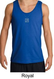 Mens Yoga Tank Top � Aum Charm Meditation Adult Tanktop