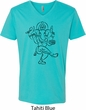 Mens Yoga Tee Black Sketch Ganesha V-neck Shirt