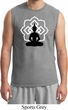 Mens Yoga Tee Buddha Lotus Pose Muscle Shirt