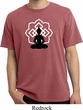 Mens Yoga Tee Buddha Lotus Pose Pigment Dyed T-shirt