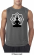Mens Yoga Tee Buddha Lotus Pose Sleeveless Shirt