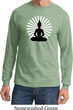 Mens Yoga Tee Meditating Buddha Long Sleeve