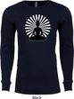 Mens Yoga Tee Meditating Buddha Thermal Shirt