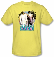 Miami Vice T-shirt 80s Love Classic Adult Banana Tee Shirt