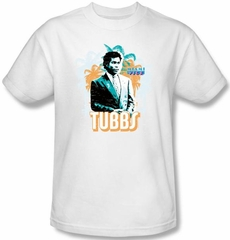 Miami Vice T-shirt Ricardo Tubbs Adult White Tee Shirt