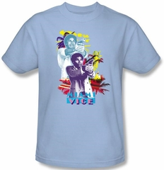 Miami Vice T-shirt Tubbs Freeze Adult Light Blue Tee Shirt