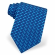 Micro Sharks Silk Tie Necktie - Men's Animal Print Blue Neck Tie