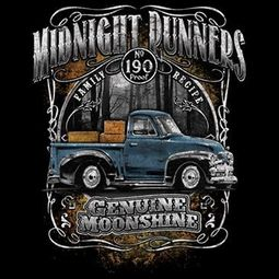 Midnight Runners Moonshine T-shirt - Black