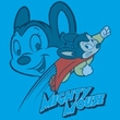 Mighty Mouse T-shirt - Double Mouse Youth Kids Turquoise Tee