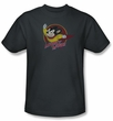 Mighty Mouse T-shirt - TV Series Mighty Circle Adult Charcoal Tee