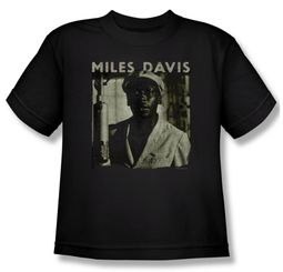 Miles Davis Kids Shirt Miles Portrait Black Youth Tee T-Shirt