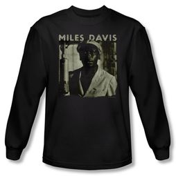 Miles Davis Shirt Miles Portrait Long Sleeve Black Tee T-Shirt