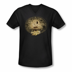 Mirrormask Shirt Slim Fit V Neck Sketch Black Tee T-Shirt