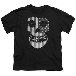 Misfits Kids Shirt Fiend Flag Black T-Shirt