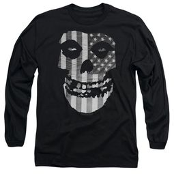 Misfits Long Sleeve Shirt Fiend Flag Black Tee T-Shirt