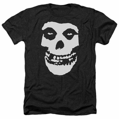 Misfits Shirt Fiend Skull Heather Black T-Shirt