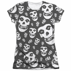 Misfits Shirt Fiends All Over Poly/Cotton Sublimation Juniors T-Shirt