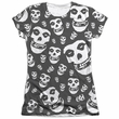 Misfits Shirt Fiends All Over Poly/Cotton Sublimation Juniors T-Shirt Front/Back Print