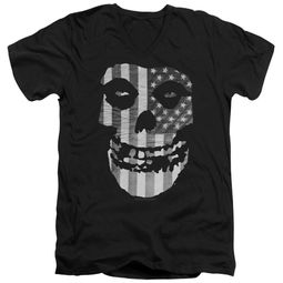 Misfits Slim Fit V-Neck Shirt Fiend Flag Black T-Shirt