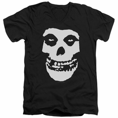 Misfits Slim Fit V-Neck Shirt Fiend Skull Black T-Shirt