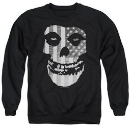 Misfits Sweatshirt Fiend Flag Adult Black Sweat Shirt