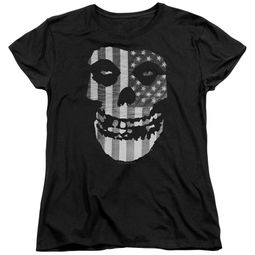 Misfits Womens Shirt Fiend Flag Black T-Shirt
