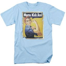 Mom T-shirt - Moms Kick Ass Retro Funny Adult Mother's Tee