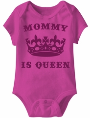 Mommy Is Queen Funny Baby Romper Hot Pink Infant Babies Creeper