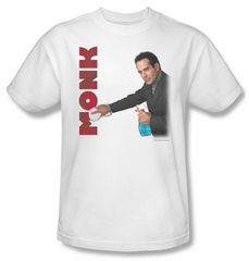 Monk Shirt Clean Up Adult White Tee T-Shirt