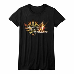 Monster Hunter 4 Shirt Juniors Ultimate Logo Black T-Shirt