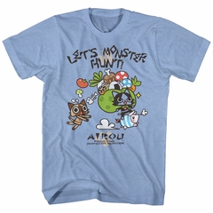 Monster Hunter Shirt Airou Hunter Light Blue T-Shirt