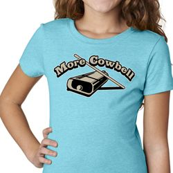 More Cowbell Kids Funny Shirts