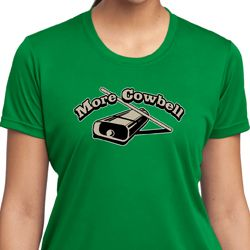 More Cowbell Ladies Funny Shirts