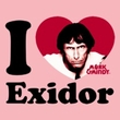 Mork and Mindy Ladies Shirt I Heart Exidor Pink T-Shirt
