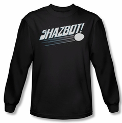 Mork & Mindy Shirt Shazbot Egg Long Sleeve Black Tee T-Shirt