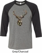 Mossy Oak Camo Deer Mens Raglan Shirt