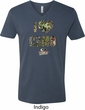 Mossy Oak I Love Camo Mens V-Neck Shirt