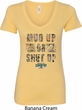 Mossy Oak Mud Up or Shut Up Ladies V-Neck Shirt