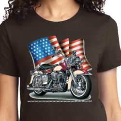 Motorcycle Flag Ladies Biker Shirts