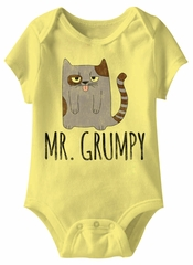Mr Grumpy Funny Baby Romper Yellow Infant Babies Creeper
