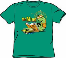 Mr Mind T-shirt - Monster Society of Evil Adult Kelly Green Tee