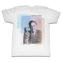 Mr. Mister Rogers Shirt Anything Possible White T-Shirt
