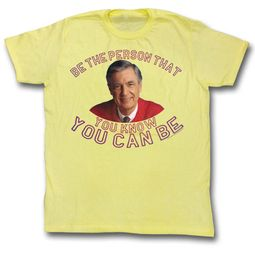 Mr. Mister Rogers Shirt Be The Person Yellow T-Shirt
